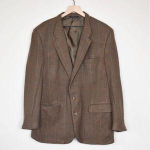 VTG BURBERRY Check Plaid Sport Coat Blazer